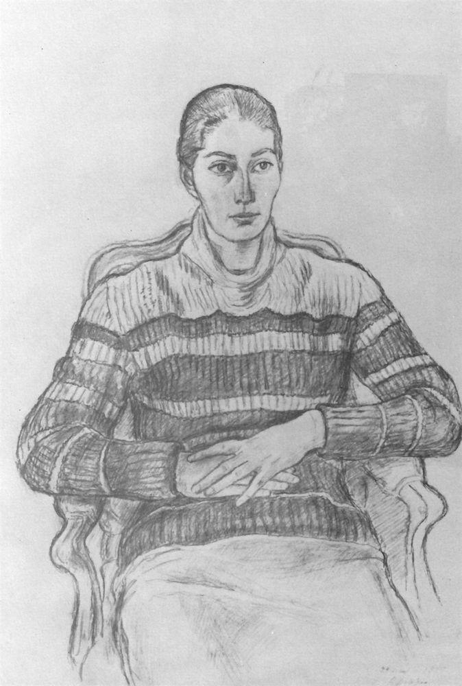 Sonya Zelenskaya. 1959. Pencil