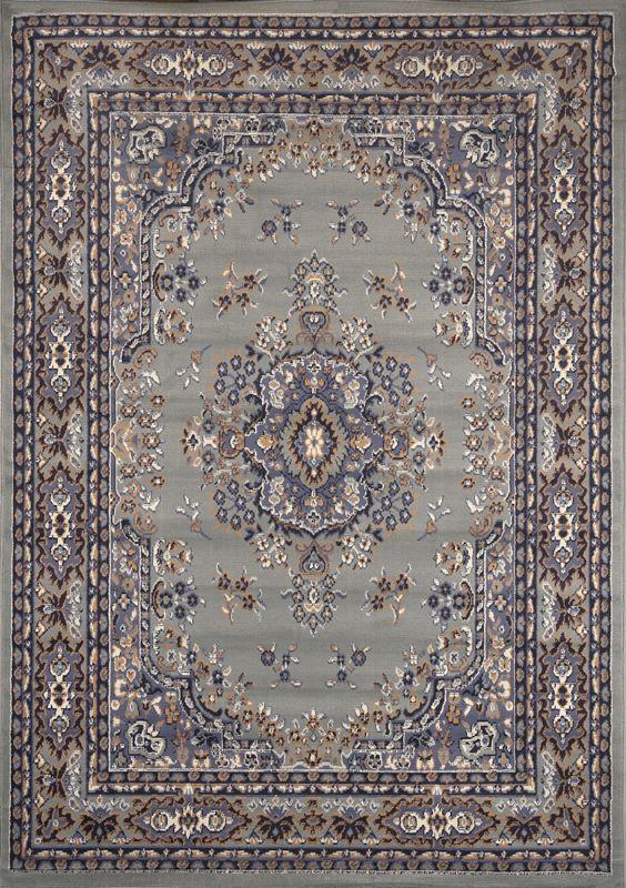 persian silver grey area rug 8 x 11 oriental carpet 69 actual 7u0027 8 - Area Carpets