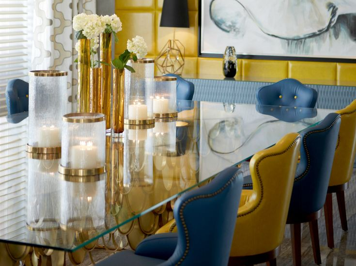 Top 5 Stunning Blue Dining Room Ideas | At Dining Room Ideas, we love adding a touch of blue to our home décor. Even in the dining room. It looks stylish, elegant and classic. | #diningroomideas #bluediningroom #diningroomchairs Find more here: http://diningroomideas.eu/stunning-blue-dining-room-chairs/