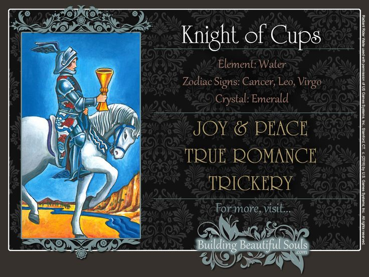 THE Knight of Cups TAROT CARD MEANINGS - UPRIGHT& REVERSED! The Knight of Cups Tarot includes LOVE, NUMEROLOGY, & SYMBOLS for more accurate TAROT READING.