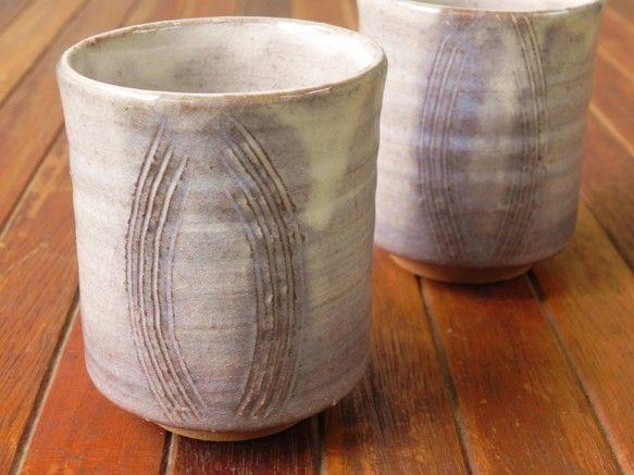 湯呑み(紫・小) グラス・カップ 土和窯(つちわがま) ハンドメイド通販・販売のCreema