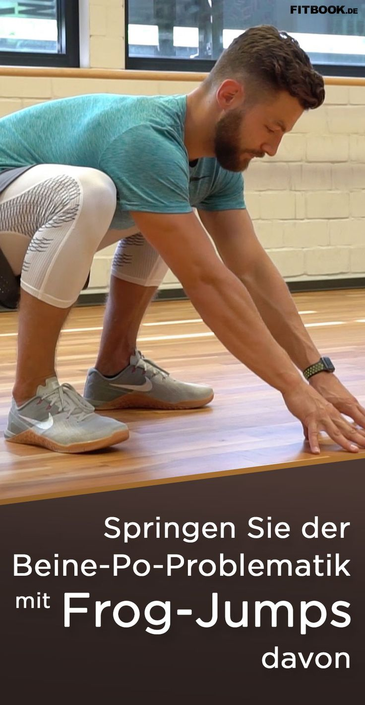 """Die Angewohnheit, bei der geringsten Bewegung in ihrer Nähe sofort wegzuhüpfen, hat Fröschen eine nicht sehr nett gemeinte Redewendung eingebracht – """"Sei kein Frosch!"""" – andererseits eine äußerst beeindruckende Bein- und Po-Muskulatur, von der wir Menschen nur träumen können. Unser Personal Trainer zeigt Ihnen im Video den effektivsten Move, der es aus dem Teich in unser Wohnzimmer-Workout geschafft hat: Den Frog Jump."""