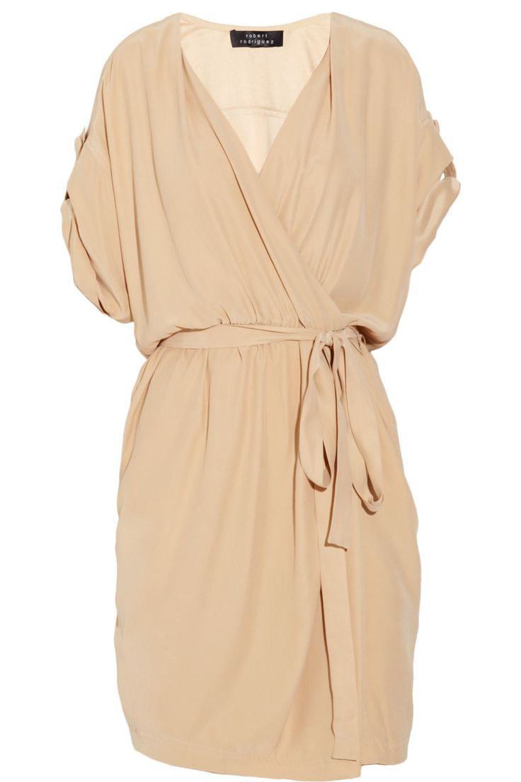 Robert Rodriguez Wrap silk dress