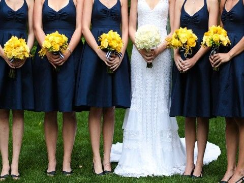 I know you want to go with maroon but here is another cute idea!    Navy Blue and Yellow Wedding (Beauty and the Beast themed)