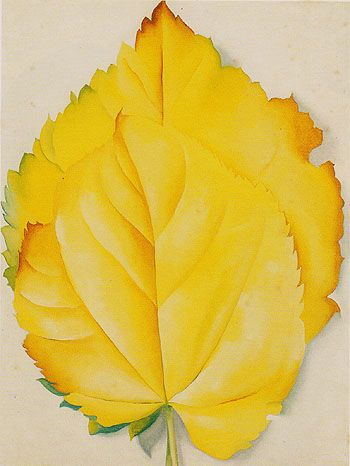 Georgia O'Keeffe Two Yellow Leaves 1928