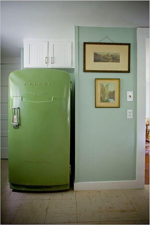 Green Vintage Fridge, 10 Colorful Refrigerators | Remodelista