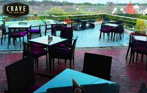 #Delight Lounge @ CraveShare this #deal :  Crave@Banjara #Hills Place has a pretty good rooftop and also and #indoor seating. The rooftop gets you the view of city of road no 12. #Hookah was smooth and neat with #Mouth #Watering #food.