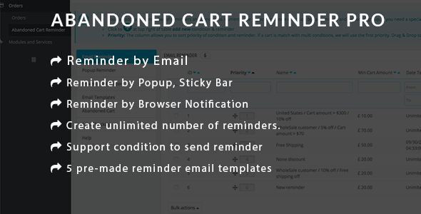 nice Prestashop Abandoned Cart Reminder PRO - Working with E-mail, Popup, Browser Notification (Prestashop)