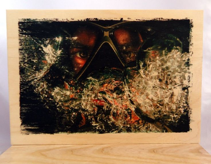 Photo on wood, diver. by VipWood on Etsy