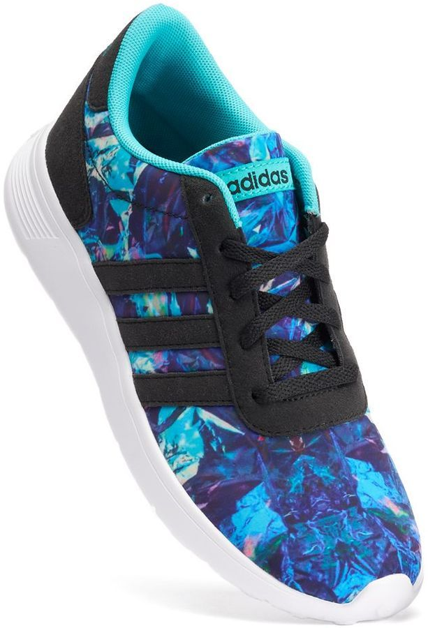 Adidas NEO Lite Racer Print Girls' Athletic Shoes