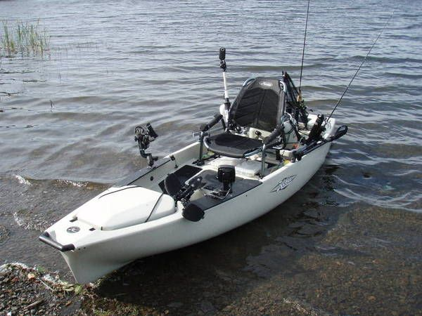 My newest addition to the fleet is a Hobie Pro Angler 12. I really like it for bass, sturgeon, salmon in the rivers, crabbing, and easy-water fisheries.