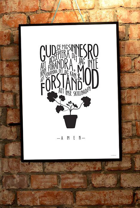 flatebo.se - 50x70 cm stor poster: Sinnesrobönen