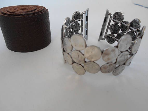 Apple Watch Band 42 or 38 mm silver beads Stretches over hand for easy wear Bracelet for Apple Watch 38 42 mm handmade beads I can make a bracelet for watch every color connector: gold, silver, rose gold, black dimensions of 38 mm and 42 mm To measure wrist: Use a tape measure, measure the area where you wear the Apple Watch. Order this measurement. I will adjust for the measurements of the Apple Watch when I make the watch band. I can do any length, please specify in the note to the ord...