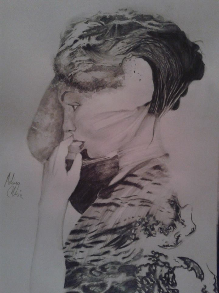 Double exposure drawing