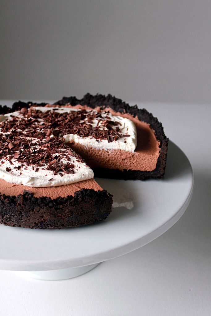 French Chocolate Silk Pie - Oh Sweet Day! Food