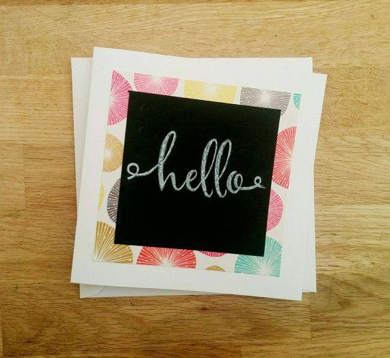 Handmade hand stamped hello summer brights