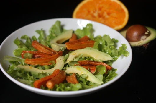 Orange-Roasted Carrot and Avocado Salad with Cumin Vinaigrette