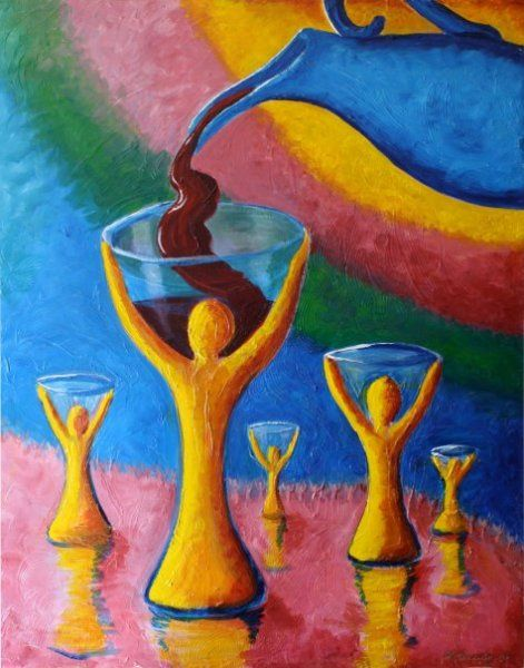 We lift our hands like a cup to be filled....Here's my cup LORD, fill it up LORD!