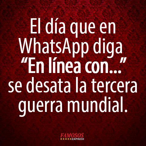 WhatsApp el causante de una guerra