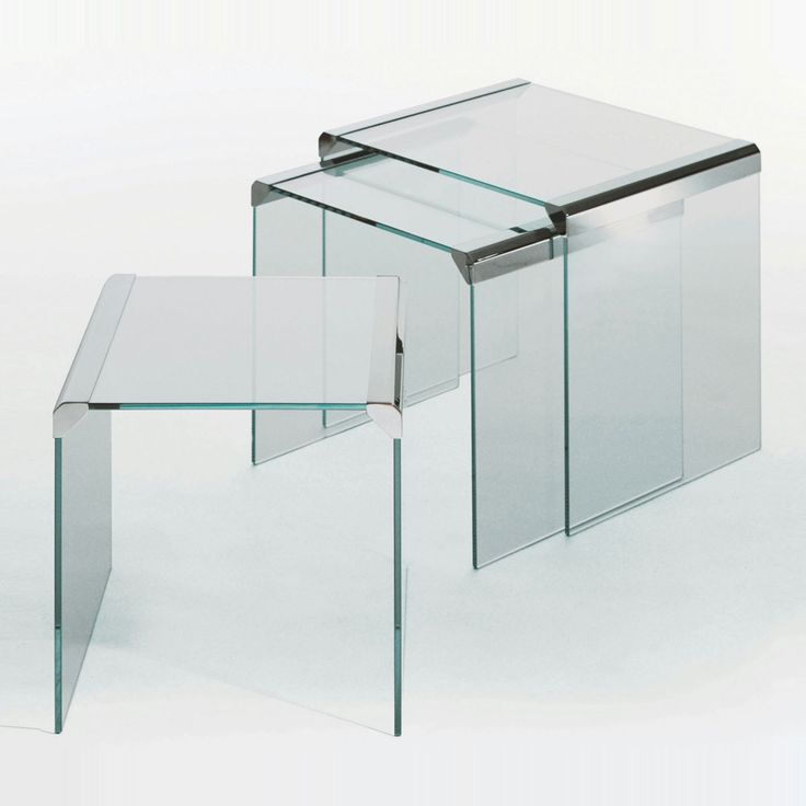 T35 Trio Nesting Glass And Metal Coffee Table By Gallotti U0026 Radice   Klarity