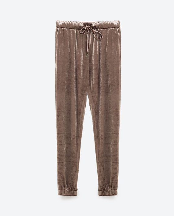 Image 6 of VELVET JOGGING TROUSERS from Zara