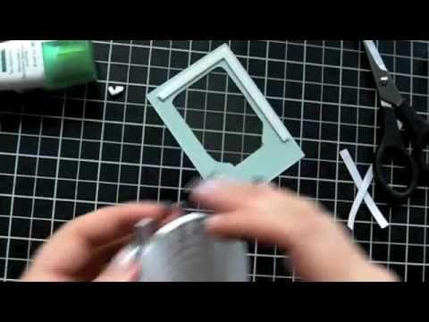 how to make a shaker card video tutorial  biglietto con oggettini dentro che fanno rumore. Idea per alfabettiere
