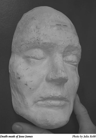 Jesse James Death Mask.  Jesse Woodson James (Outlaw) 1847-1882 Well known figure of the Wild West