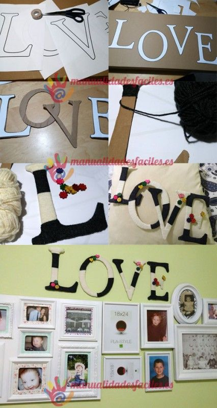 Como decorar letras con cart n reciclado diy - Letras home decoracion ...