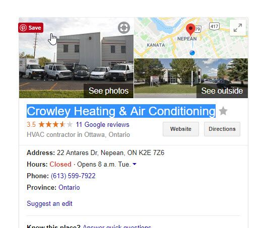 Crowley Heating Air Conditioning Nepean On Hvac Ottawa Heating