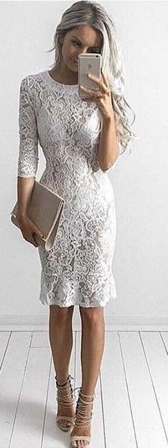 #summer ##flawless #Outfits | White Lace Dress
