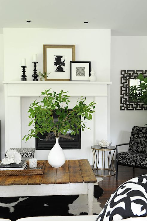 Beautiful living room features black and white leopard for Beautiful living rooms traditional