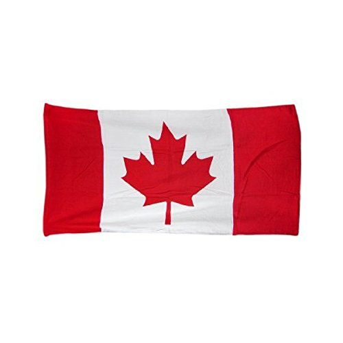 "Canadian Maple Leaf Flag Beach Towel 60 x 30 Canada. Size: 30"" x 60""Color: Red & white. Brand New Product. White. 30"" x 60"". This awesome red and white terrycloth beach towel features a Canadian flag maple leaf design. It makes a great gift for folks who are proud of their Canadian heritage. The towel measures 60 inches long 30 inches wide with sewn edges to prevent fraying. Item dimensions: weight: -1, width: 50, height: -1 inches. Machine wash, Tumble dry, Wash dark colors..."