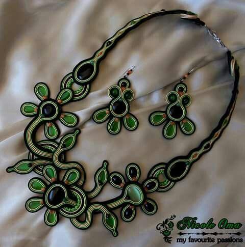 Green soutache