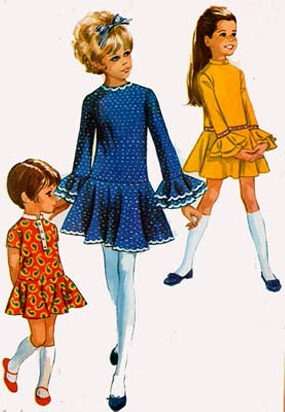 Vintage 60s Sewing Pattern Simplicity 7969 Girls by sandritocat, $10.00
