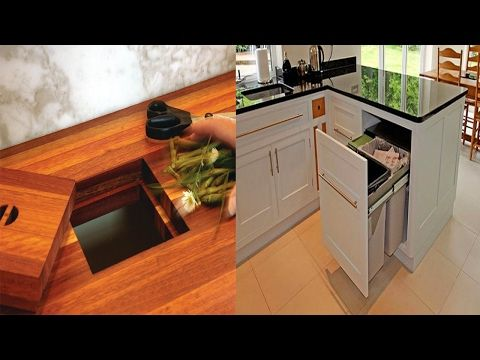 Kitchen Garbage Can Ideas-Hidden Trash Can Ideas