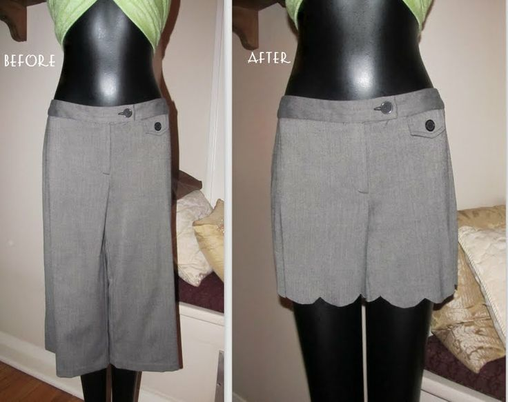 #22 Re-style some  pants into shorts: Re Style 22, Scalloped Shorts, 22 Scalloped, 22 Re Style, Clothes Makeovers, Project Re Style, Crafty Projecty, Shorts Tutorial, Diy Projects