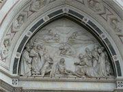 Santa Cruz - Iglesia y Museo - Florencia  puerta principal Giovanni Dupre