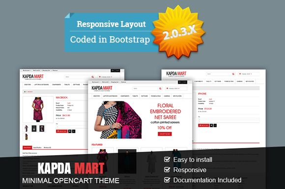 Kapda Mart - Minimal OpenCart Theme by settysantu on Creative Market