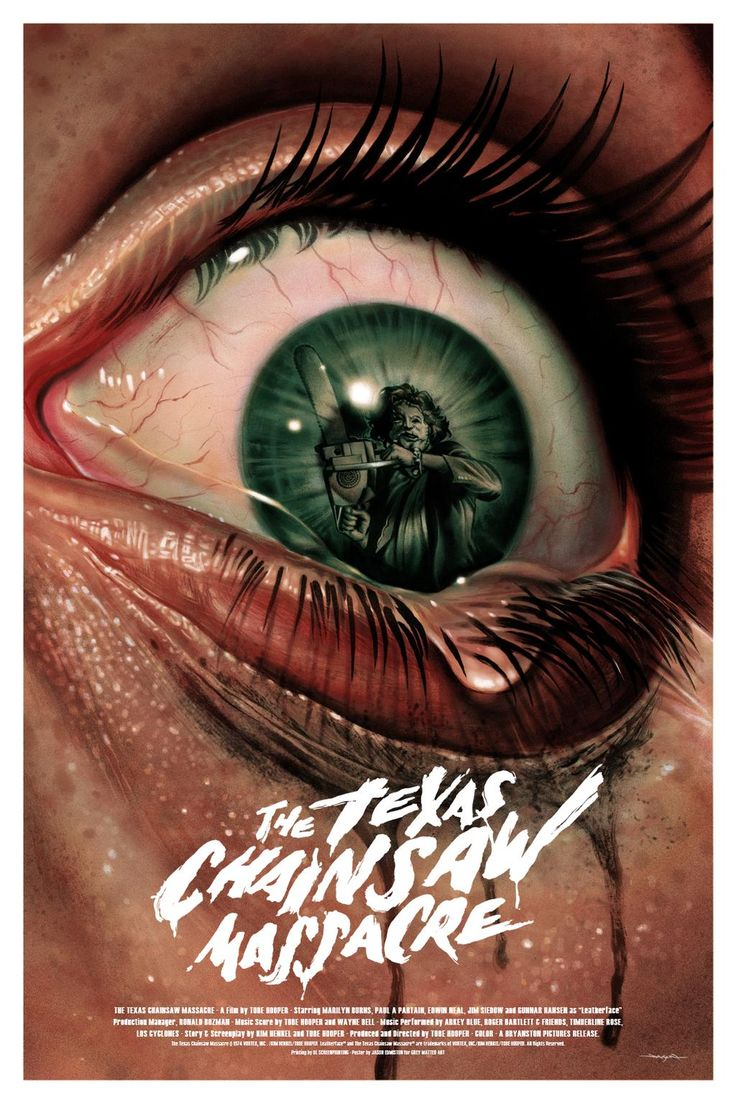 The Texas Chainsaw Massacre, Tobe Foster,  1974 (Jason Edmiston designe poster).