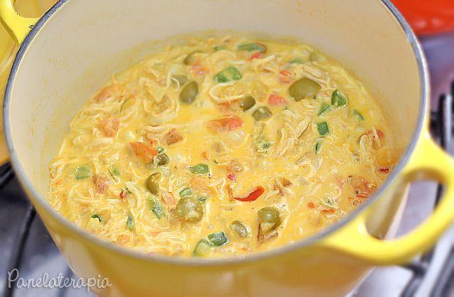 PANELATERAPIA - Blog de Culinária, Gastronomia e Receitas: Molho de Frango com Cream Cheese