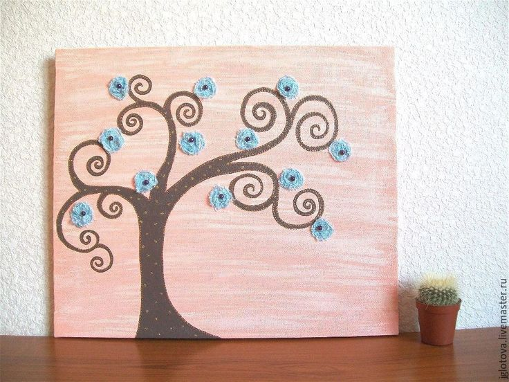 Купить Панно Картина Дерево сказочное - кремовый, панно, панно для интерьера, картина в подарок