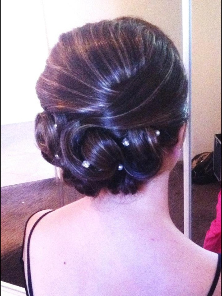 Bridal hair :) Check out snippany on Facebook