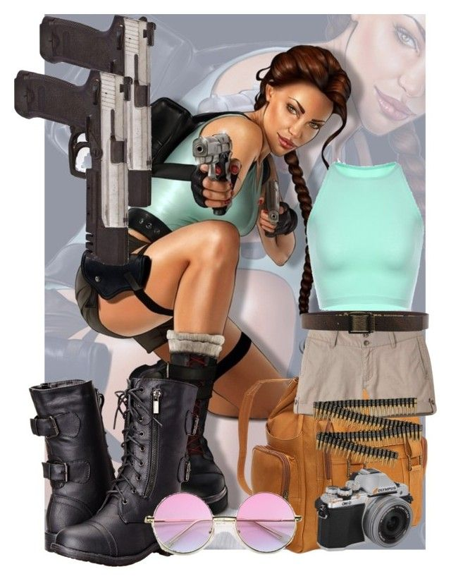 """""""Lara Croft"""" by leanne-laird on Polyvore featuring Le Donne, Mountain Khakis and Diesel Black Gold"""