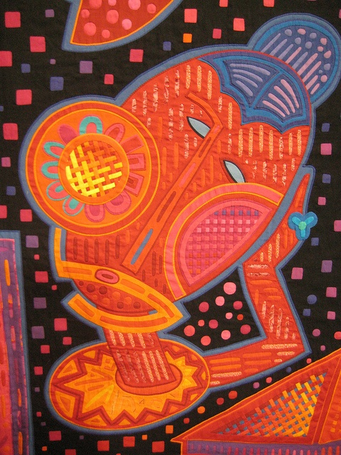 Fumiko Nakayama - This quilt artist has spawned a huge interest in mola interpretations and has written several books on the subject. Her quilts are breathtaking in their coloration and execution.