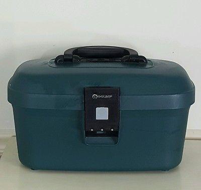 Vintage Delsey France Train Case Vanity Overnight Suitcase Hardshell Luggage