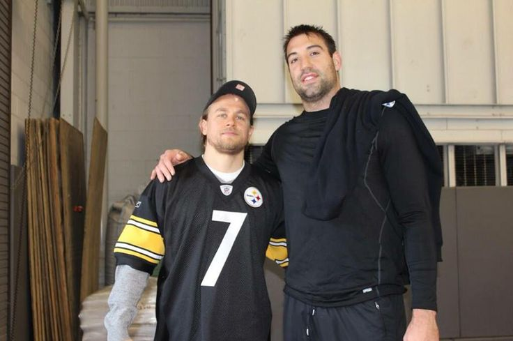 Charlie Hunnam  ...and Matt Spaeth of The Pittsburgh Steelers <3