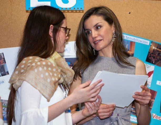 Queen Letizia of Spain attends the Educative Congress of Rare Diseases at Facultad de Ciencias de la Salud Universidad Cardenal Herrera on April 27...