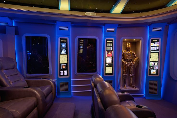 Star Wars home theater designed and built by Smith Brothers Construction.