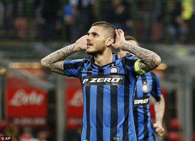 Mauro Icardi FC Internazionale Milano  Mauro Icardi Inter Milan #Calcio #Football  333FE0BC00000578-0-image-a-1_1460836257296.jpg (634×458)