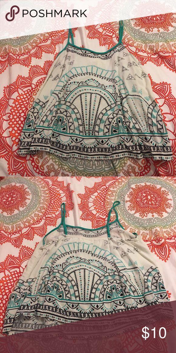 Aztec Crop Top Light flowy crop top Francesca's Collections Tops Crop Tops